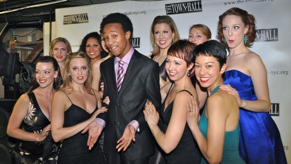 Kendrick Jones and The Siegfeld Follies Girls-Elizabeth Clinard, Jaime Lyn Frola, Ang Photo