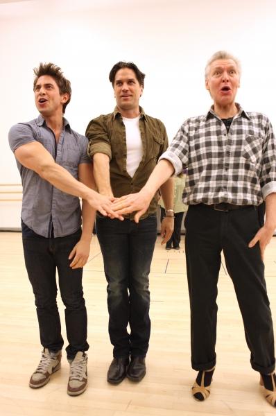 Nick Adams, Will Swenson & Tony Sheldon attend the 'Priscilla Queen Of The Desert' Me Photo