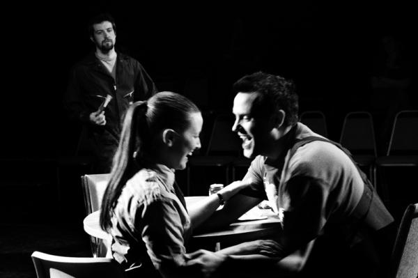 Brandon Kruhm as Greg, Lauren Bahlman as Carly and David Cates as Kent Photo