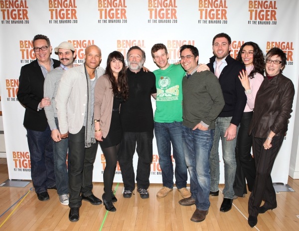 Producer Kevin McCollum, Sheila Vand, Glenn Davis, Arian Moayed, Robin Williams, Brad Fleischer, Hrach Titizian, Necar Zadegan and Producer Robyn Goodman