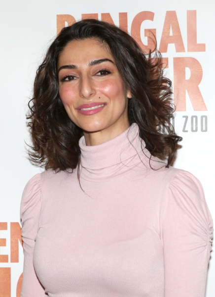 Necar Zadegan attends the 'Bengal Tiger at The Baghdad Zoo' Meet & Greet during Rehearsals at The New 42nd Street Studios in New York City.