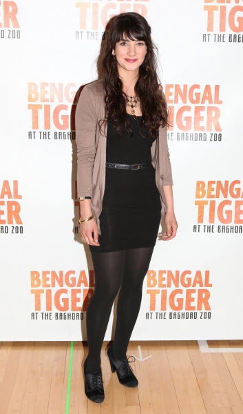 Sheila Vand attends the 'Bengal Tiger at The Baghdad Zoo' Meet & Greet during Rehearsals at The New 42nd Street Studios in New York City. at Robin Williams & BENGAL TIGER AT THE BAGHDAD ZOO Meet the Press!