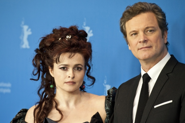 Feb. 16, 2011 - Berlin, Berlin, Germany - Helena Bonham Carter and actor Colin Firth during the photocall of ''The King's Speech'' at the Berlinale 2011 at THE KING'S SPEECH at the Berlin Film Festival