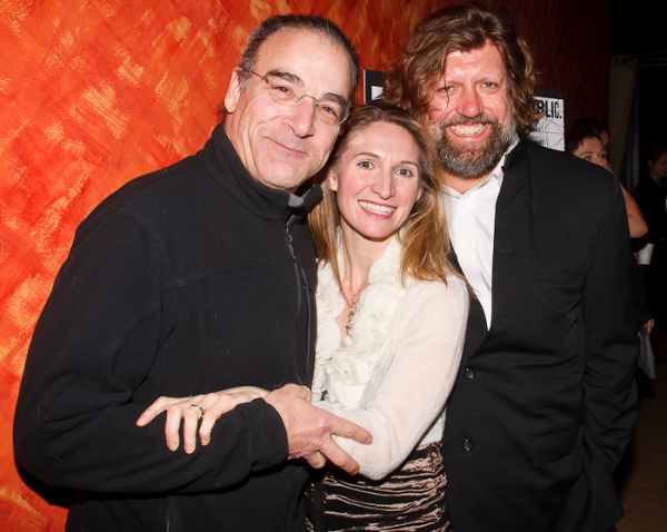 Mandy Patinkin, Rinne Groff, and Oskar Eustis at COMPULSION Opens at the Public