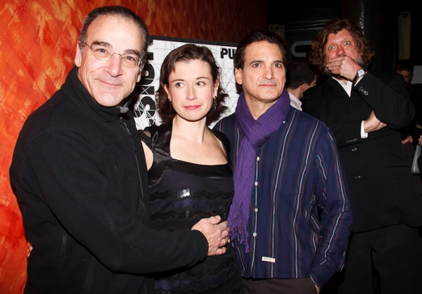 Mandy Patinkin, Hanna Cabell, and Matte Osian (with an Oskar Eustis photobomb)