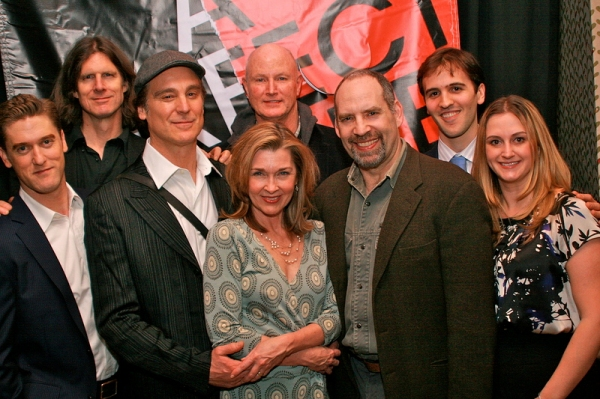 The Full Company:  Scott Drummond, Wilson Milam, Michael T. Weiss, Donna Bullock, David Hay (rear), Daniel Oreskes, Andy Sandberg, Whitney Hoagland Edwards