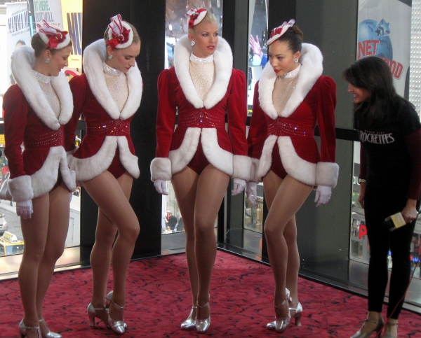 The Rockettes with Sharon Delaney from My Carolina Today  at DPAC's 2011-2012 'WOW, What A Season!' Announcement
