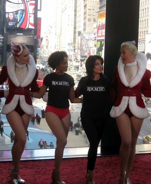 The Rockettes with Valonda Calloway and Sharon Delaney from My Carolina Today at DPAC's 2011-2012 'WOW, What A Season!' Announcement