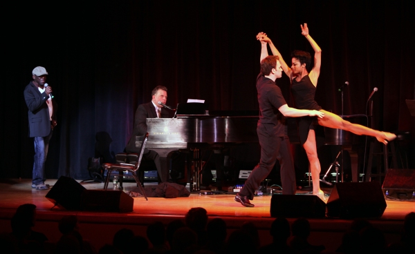 Hinton Battle, Billy Stritch, Vivian Nixon & Dancer performing at The Best of Jim Caruso's Cast Party, a Benefit for BC/EFA at Town Hall in New York City.