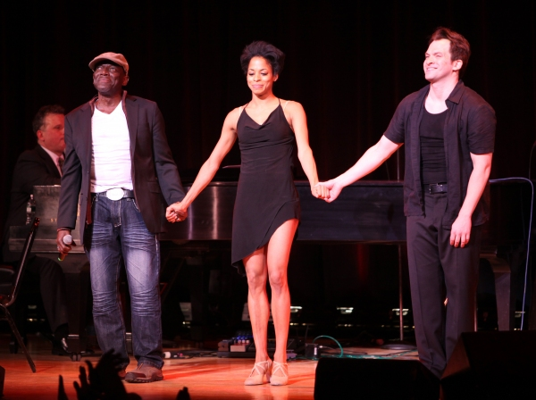 Hinton Battle, Vivian Nixon & Dancer performing at The Best of Jim Caruso's Cast Party, a Benefit for BC/EFA at Town Hall in New York City.