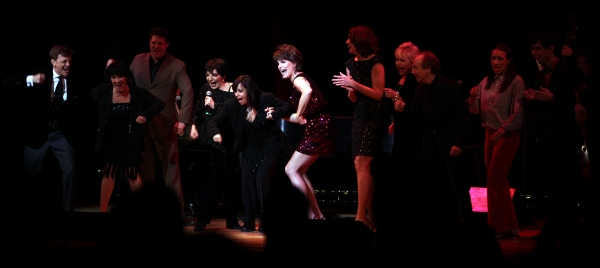 New York, New York Finale featuring: Hinton Battle, Christopher Sieber, Billy Stritch, Chita Rivera, Lisa Mordente, Liza Minnelli, Jim Caruso, Lucie Arnaz, Hilary Kole, Sally Mayes, Miranda Sings, William Blake performing at The Best of Jim Caruso's Cast