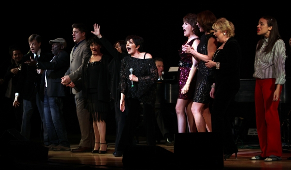 New York, New York Finale featuring: Hinton Battle, Christopher Sieber, Billy Stritch, Chita Rivera, Lisa Mordente, Liza Minnelli, Jim Caruso, Lucie Arnaz, Hilary Kole, Sally Mayes, Miranda Sings performing at The Best of Jim Caruso's Cast Party, a Benefi