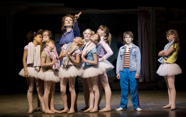 Kate Hennig, Myles Erlick and the cast of Billy Elliot Toronto