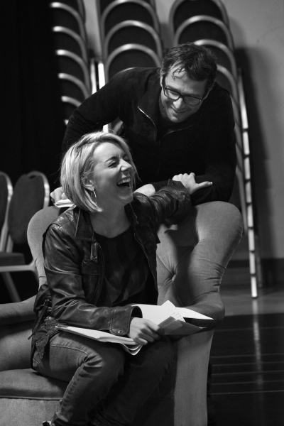Sheridan Smith & James Purefoy at Miller, Purefoy & Smith Rehearse FLARE PATH