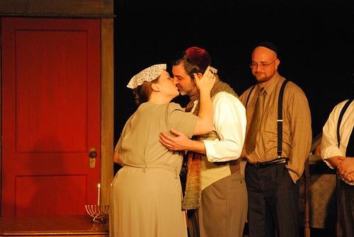 Gregory Magyar (Otto Frank) and Amanda Barker