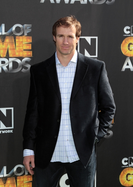 "Drew Brees in attendance; The Cartoon Network ""Hall of Game Awards"" held at Barker Hanger in Santa Monica, California on February 21th, 2011"