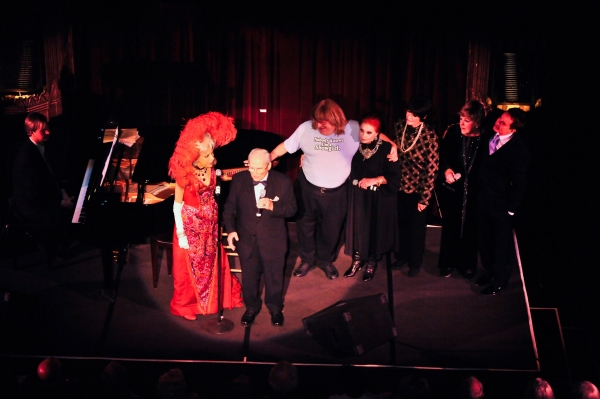 Tom Griep (at Piano), Carol Channing, Harry Kullijian, Bruce Vilanch, Carole Cook, JoAnne Worley, Mary Jo Catlett and Davis Gaines