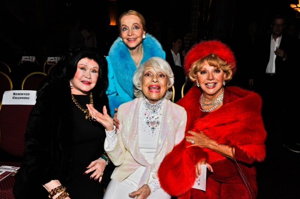 Barbara Van Orden, Anne Jeffreys, Carol Channing and Ruta Lee at Carol Channing Visits the Pantages Theatre
