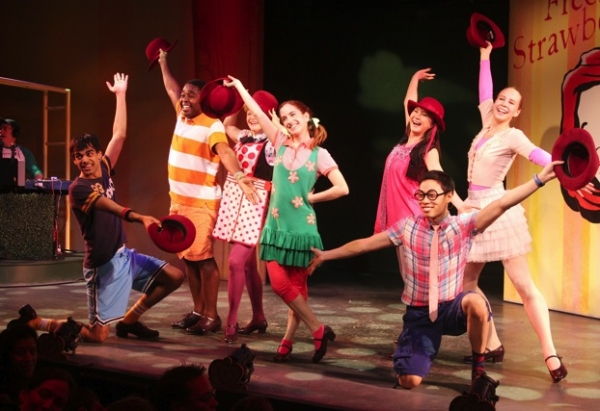 Sanjaya Malakar, Remy Zaken, and the cast of FRECKLEFACE STRAWBERRY