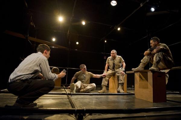 Alex Mandell (Journalist), Mat Leonard (Marine 3), Matt Ketai (Marine 2), and Andrew Mayer (Marine 1).