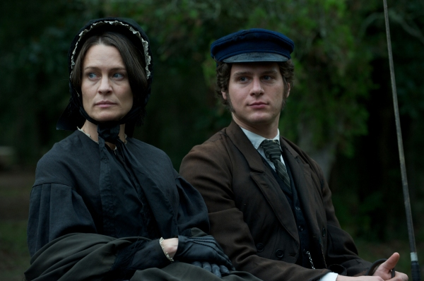 Robin Wright as Mary Surratt and Jonathan Groff Louis Weichmann