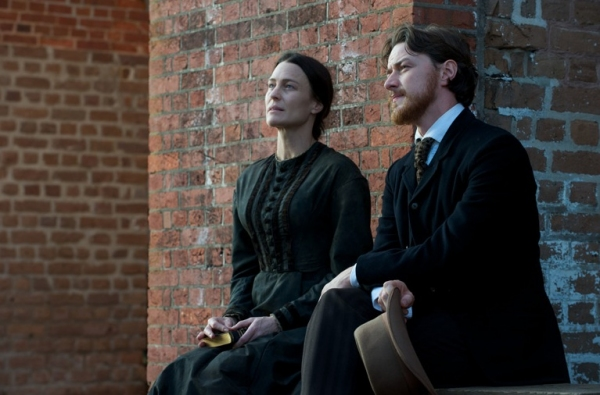 Robin Wright as Mary Surratt and James McAvoy as Frederick Aiken 