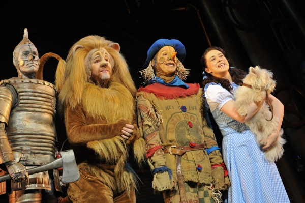Feb. 25, 2011 - London, London, UK - © Under licence to London News Pictures. 25/02/2011. Tin Man (Edward Baker-Duly), Lion (David Ganly), Dorothy (Danielle Hope) and Toto (Dazzle). ''The Wizard of Oz'' opens at The London Palladium.  Written by A