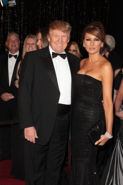 Donald Trump and wife Melania Trump pictured at the 83rd Annual Academy Awards - Arri Photo