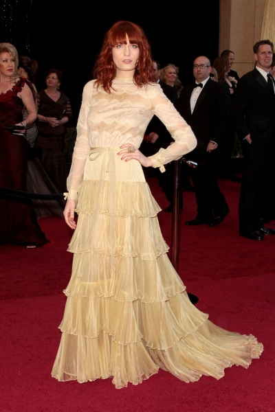 Florence Welch pictured at the 83rd Annual Academy Awards - Arrivals held at the Kodak Theatre in Hollywood, California on February 27, 2011. © RD / Orchon / Retna Digital.
