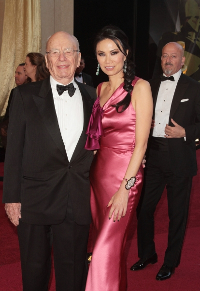 Rupert Murdoch and Wendi Deng pictured at the 83rd Annual Academy Awards - Arrivals held at the Kodak Theatre in Hollywood, California on February 27, 2011. © RD / Orchon / Retna Digital.