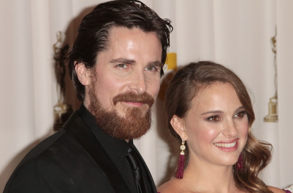 Christian Bale and Natalie Portman pictured at the 83rd Annual Academy Awards - Press Photo