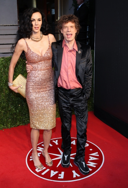 L'Wren Scott and Mick Jagger pictured at The Vanity Fair Oscar Party at Sunset Tower Hotel in Los Angeles, CA February 27, 2011. © RD/ Erik Kabik/ Retna Digital at The 2011 Vanity Fair Oscar Party!