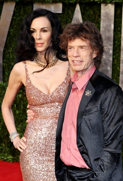 L'Wren Scott and Mick Jagger pictured at The Vanity Fair Oscar Party at Sunset Tower Hotel in Los Angeles, CA February 27, 2011. © RD/ Erik Kabik/ Retna Digital