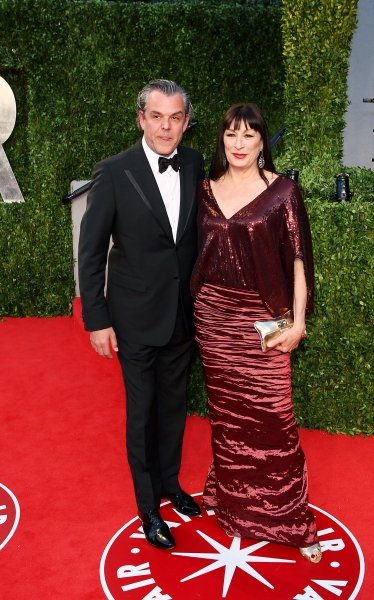 Danny Huston and Anjelica Huston  pictured at The Vanity Fair Oscar Party at Sunset T Photo