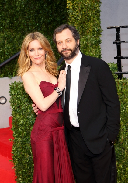 LLeslie Mann and Judd Apatow  pictured at The Vanity Fair Oscar Party at Sunset Tower Hotel in Los Angeles, CA February 27, 2011. © RD/ Erik Kabik/ Retna Digital at The 2011 Vanity Fair Oscar Party!