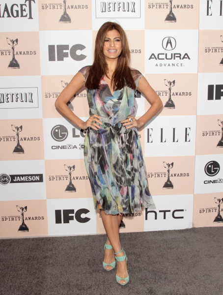 Eva Mendes in attendance; The 2011 Film Independant Spirit Awards held at Santa Monic Photo