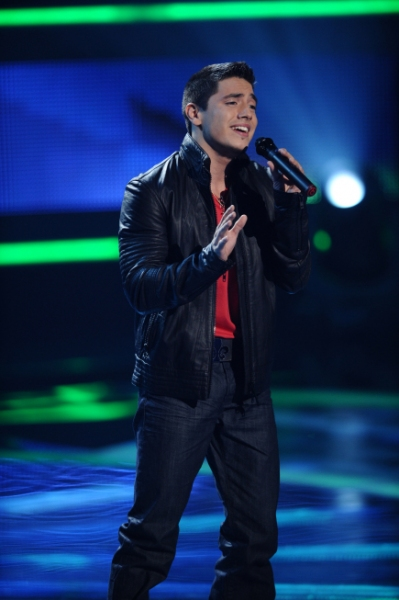 AMERICAN IDOL; Top 24: Stefano Langon performs in front of the judges on AMERICAN IDO Photo