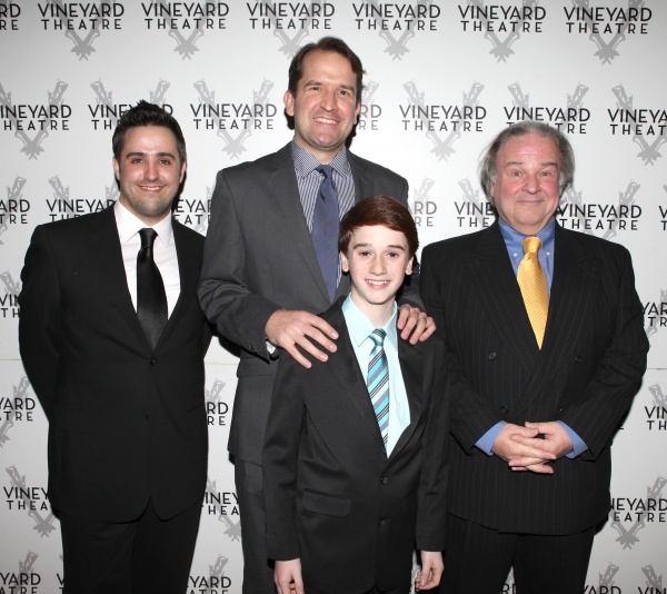 The cast of 'Happiness' featuring Fred Applegate, Christopher Flaim, James Moye & Eric Santagata arriving for STRO! The Vineyard Theatre Annual Spring Gala honors Susan Stroman at the Hudson Theatre in New York City