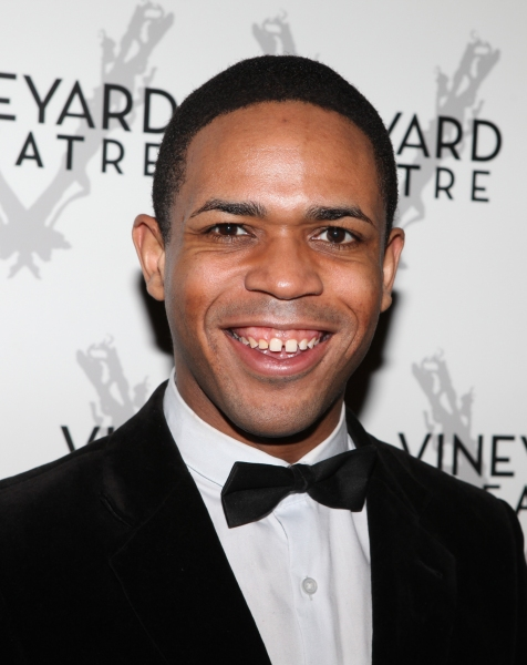 Derrick Cobey arriving for STRO! The Vineyard Theatre Annual Spring Gala honors Susan Stroman at the Hudson Theatre in New York City