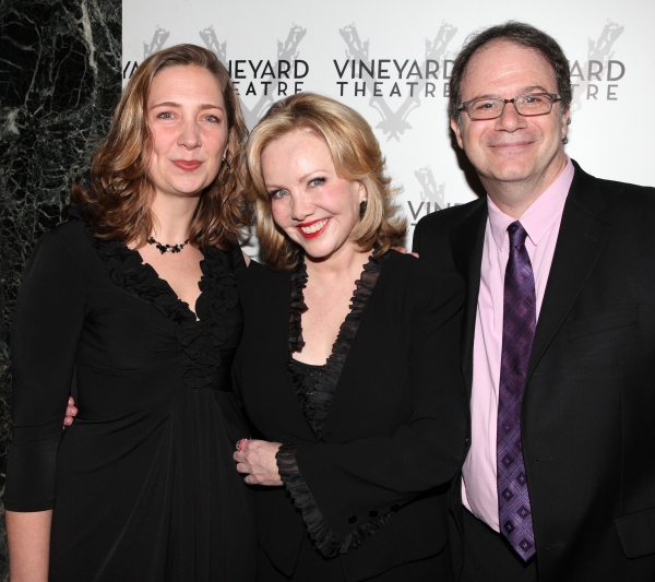 Jennifer Garvey-Blackwell, Susan Stroman & Douglas Aibel arriving for STRO! The Vineyard Theatre Annual Spring Gala honors Susan Stroman at the Hudson Theatre in New York City
