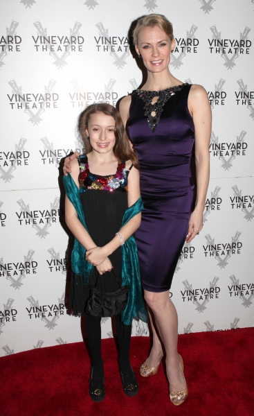 Leigh Zimmerman & Daughter arriving for STRO! The Vineyard Theatre Annual Spring Gala honors Susan Stroman at the Hudson Theatre in New York City