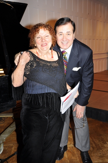 Crystal Field (Executive Director of Theater for the New City) and Lee Roy Reams
