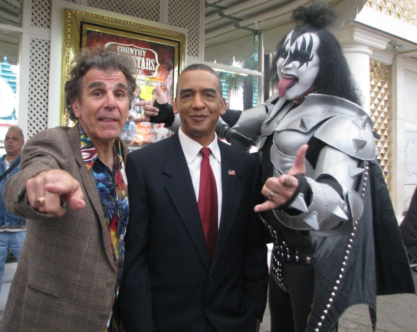 Michael Richards/Kramer (Steve Ostrow, Esq.) President Obama (	Reggie Brown) and Gene Simmons (Luis)
