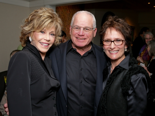 Jane Fonda, Marc Stern and Eva Stern