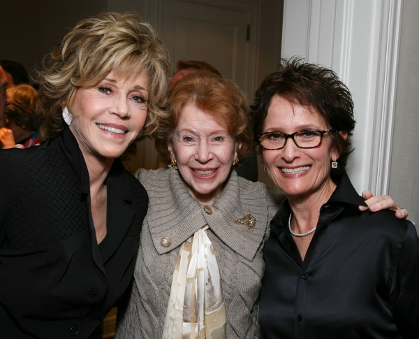 Jane Fonda, Brindell Gottlieb and host Eva Stern