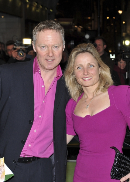 Rory Bremner and wife arrive