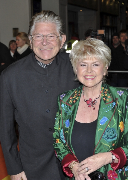 Gloria Hunniford and husband at THE WIZARD OF OZ West End Red Carpet