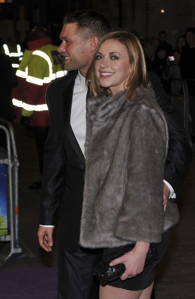Charlotte Church and John Partridge arrive