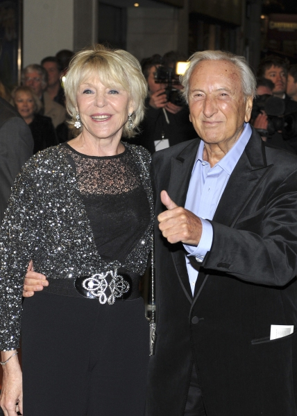 Michael Winner and his wife arrive
