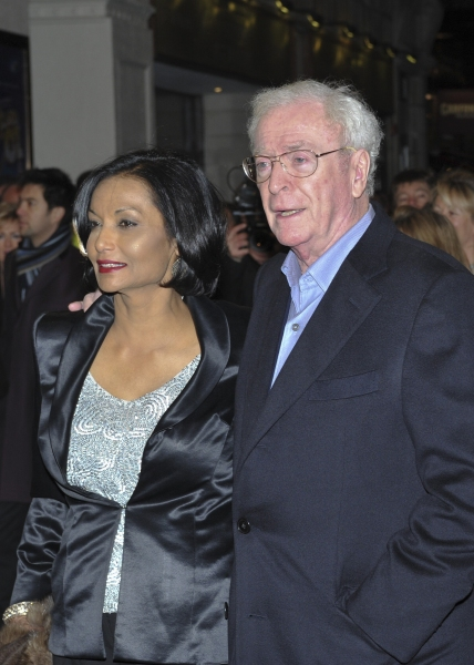 Michael and Shakira Caine arrive